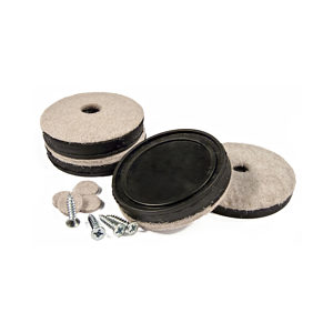 SUPER FELTAC® Heavy-Duty Round Furniture Felt on Vinyl Pads