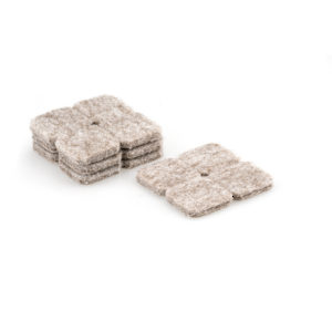FELTAC® Heavy-Duty Self-Adhesive Square Felt Pads