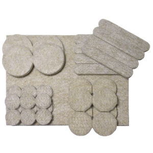 FELTAC® Heavy-Duty Self-Adhesive Multipack Felt Pads