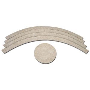 FELTAC® Heavy-Duty Self-Adhesive Circular Base Kit Felt Pads