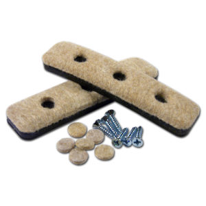 SUPER FELTAC® Heavy-Duty Strip Furniture Felt on Vinyl Pads