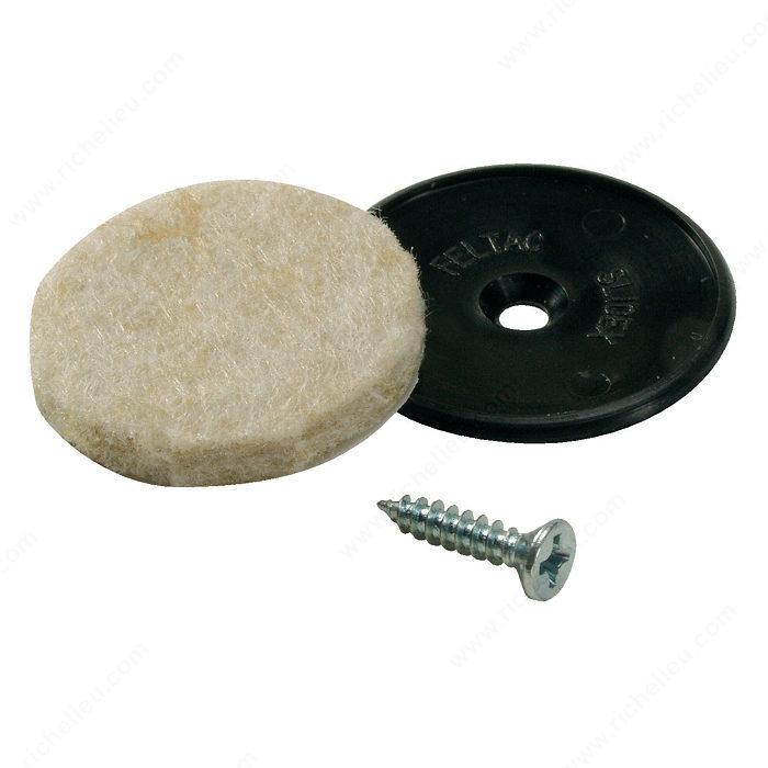 Feltac heavy duty screw on round felt pads madico - Screw in felt pads ...