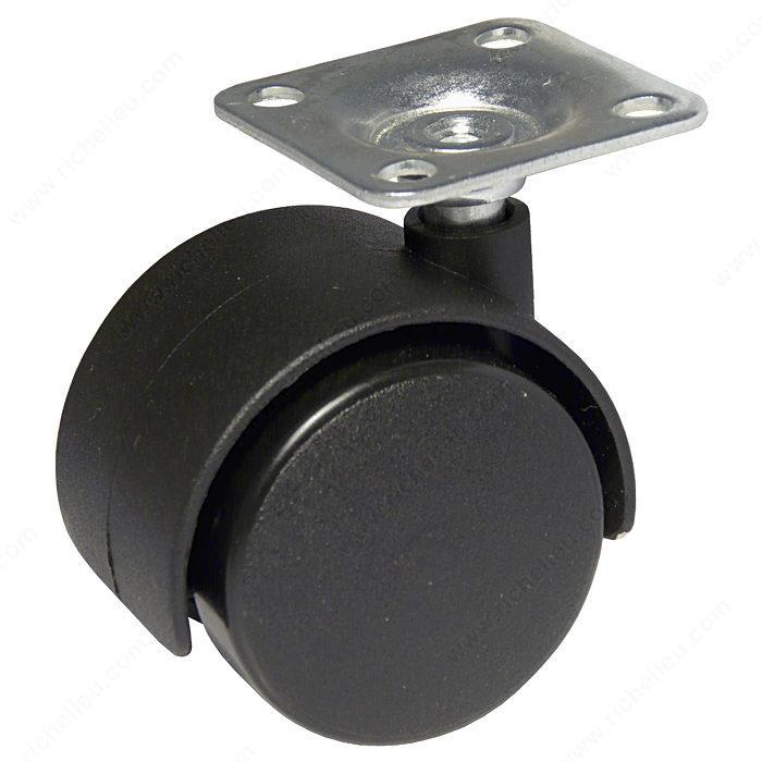Roulette double pour meuble avec plaque madico - Roulette pour meuble avec frein ...