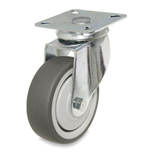 Gray Thermoplastic Rubber Casters for General Use