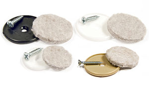 Heavy-Duty Screw-On/Nail-On Felt Pads